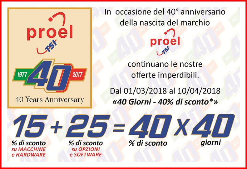 40° Anniversario